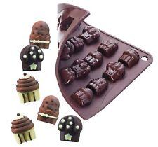 NEW 16 CUPCAKE CAKE SHAPE SILICONE ICE SWEET CHOCOLATE MOULD PAVONI