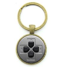 Video Game Controller Keychain Keyring NEW - GIFT Bronze Round Grey