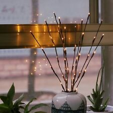 LED Willow Branch Lamp Floral Lights 20 Bulbs Home Christmas Party Garden Decor