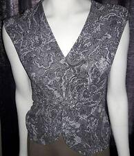 Women's Medium Grey Sparkling Sleeveless DRESSBARN Shirt