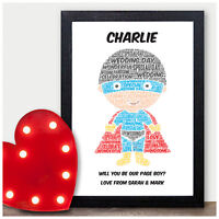 Will You Be My Page Boy Usher Best Man Personalised Superhero Wedding Gift