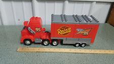 Disney Pixar Cars Mack Semi Hauler no.95 Rust eze Lightning Mc Queen MEGA BLOKS