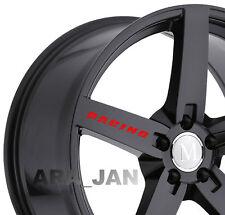 RACING Stripe Wheels Vinyl Decal Sticker Sport car rims performance logo 4 pcs