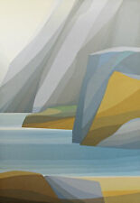 "Kensuke Wakeshima ""Silver Gorge B"" Signed & Numbered Art Lithograph Japanese OBO"