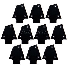 10 Pcs Black Plastic Electric Guitar Truss Rod Cover For Ibanez Custom