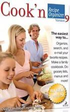 Cook'n Recipe Organizer 9 Pc Dvd search email favorite cookbooks menus lists +