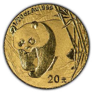2002 20 Yuan 1/20 oz 999 Gold Chinese Panda - SKU-G1065