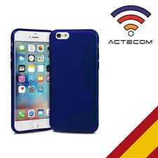 "ACTECOM® FUNDA PROTECTOR CARCASA GEL PARA IPHONE 6S PLUS 5,5"" S-LINE AZUL"
