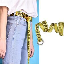 Vetements Off White Virgil Abloh Yellow Belt Mans Womans Pants Dress Waistband