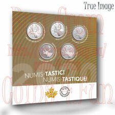 2020 - Numis-tastic! - Five 25-cent Nickel-Plated Steel Coin Set - Canada