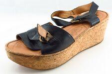 Born Size 10 M Black Ankle Strap Leather Women Sandal Shoes