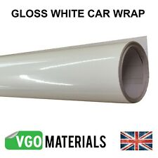 Car Wrap Vinyl Gloss White High gloss Air/Bubble Free Car Motorbike van 3 layer