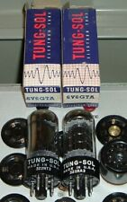 2 new 6V6GTA USA Tung-Sol BLACK PLATE tubes NOS NIB matched pair U.S.A.3