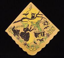 Halloween Napkins Soft Ribbed Tissue Reeds Rembrandt Brand Lot of 4 Vintage