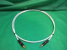 8 FT SILVER PLATED AUDIOPHILE INTERCONNECT SUBWOOFER VIDEO DIGITAL CABLE.