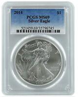 2014 1oz American Silver Eagle PCGS MS69 - Blue Label