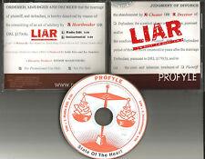 PROFYLE Liar RADIO EDIT & INSTRUMENTAL PROMO DJ CD Single 2000 Teddy Riley Prod