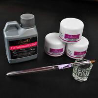 Professional Nail Art Acrylic Liquid Powder Pen Glass Dappen Dish Tool Kit Set