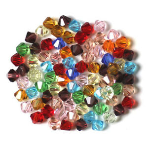 50pcs Imitation Austrian Crystal Glass Beads Faceted Bicone Spacer 6/8/10mm