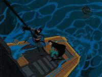 Batman Animated Series Original Production Cel Batman/Robin-Shadow of the Bat