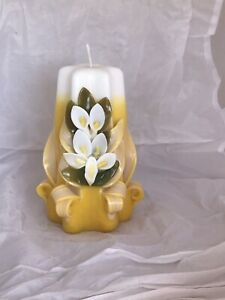 Hand Carved sculptured candle