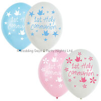 6 First 1st Holy Communion Helium/Air Latex Balloons Party Decorations Boy Girl