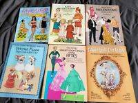 6 Vintage NEW Paper Doll Books Kate Greenaway, Dolls from the Comics, Valentino
