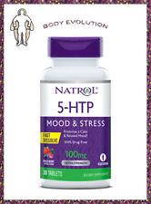 NATROL 5 HTP, Fast Disolve,Vegetarian, Relaxed Mood, Stress Free,100mg. 30 Kaps.