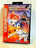 Sonic the Hedgehog Spinball (Sega Genesis, 1993) Instruction Manual Box