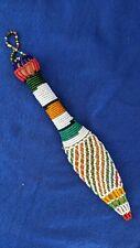 Fine Beaded African Ceremonial Dagger Knife. 19th Century