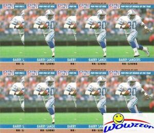 (10)  1990 Pro Set #1 Barry Sanders Lot Detriot Lions Hall of Famer