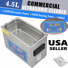 4.5L Liter Ultrasonic Cleaner Cleaning Equipment Industry Heated W/ Timer Heater
