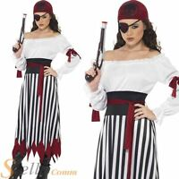 Pirate Woman Costume Caribbean Lady Fancy Dress Outfit Womens Adult Size 8-18