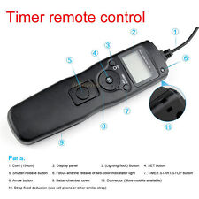 Timer Remote Shutter Release Cord for EOS Canon 40D 50D 1D 5D Mark II III 6D 7D
