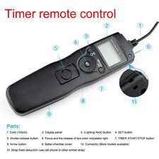 Timer Remote Shutter Release Cord for EOS Canon 40D 50D 1D 5D Mark II III 6D 7D