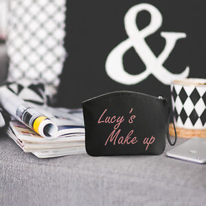PERSONALISED Small Make up bag / Wristlet / Pouch / Cosmetic / Gift / Present