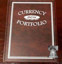 BCW Album Portfolio 3 Pocket 10 Page Burgundy Banknote Holder Book Case