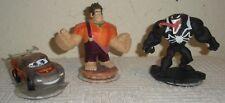 Lot 3 Infinity Figures Disney WRECK IT RALPH, VENOM & Pixar CARS Clear McQUEEN