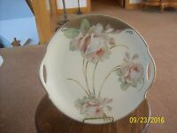 Porzellanfabrik Moschendorf P&M Bavaria Porcelain China White Rose Cake Plate