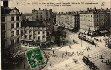 CPA LYON Place du Pont rue de Marseille, Mairie du Iie (461699)