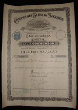 COMPANHIA GERAL DE SEGUROS - ONE SHARE 1920. Insurance Company.