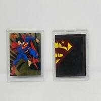 1993 SKYBOX MARVEL SUPER MAN SUPERMAN SET OF 2 CARDS
