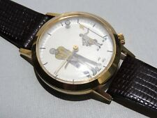 Novelty, Golf Watch, Mystery Dial, Hand Wind, Dust Proof.