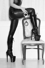 BEAUTIFUL SEXY WOMAN HANDCUFFS BOOTS CANVAS PICTURE #63 EROTIC ADULT A1 CANVAS