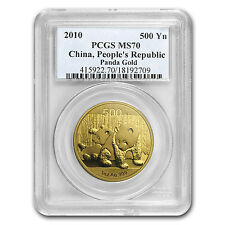 2010 China 1 oz Gold Panda MS-70 PCGS