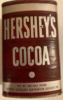 Vintage Metal Hershey's Cocoa Tin Half Lb Full Unopened NOS