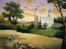 """LDS Manti Temple /""""Family Traditions/""""  Canvas Limited Edition Giclee"""
