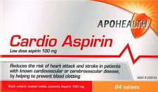=> APOHEALTH CARDIO LOW DOSE ASPIRIN 100MG 84 ENTERIC COATED = CARTIA