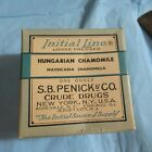 VINTAGE S.B. PENICK & CO. CRUDE DRUGS NEW YORK INITIAL LINE HUNGARIAN CHAMOMILE