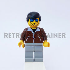 LEGO Minifigures - 1x jbr009 jbr012 - Man with Brown Jacket - Omino Minifig 6483